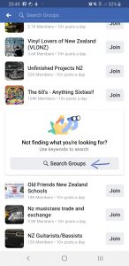 """CWI - Facebook - Search Groups"""
