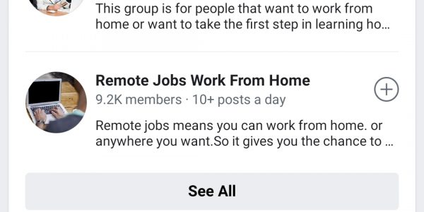 CWI – Facebook Results -Work From Home